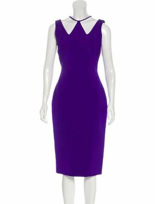 David Koma Midi Bodycon Dress Purple