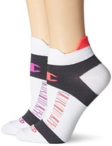 Champion Women's Double Heel Shield Compression Running Socks (Pack of 2)