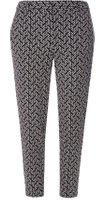 Dorothy Perkins Womens Black And Ivory Dash Trousers- Black