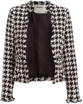 L'Agence Adette Tweed Houndstooth Jacket