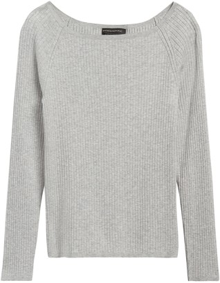 Banana Republic Petite Boat-Neck Sweater Top
