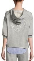 3.1 Phillip Lim Layered Hooded Cotton Sweatshirt