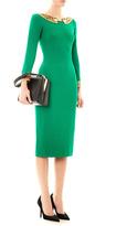 L'Wren Scott Bead-embellished crepe dress