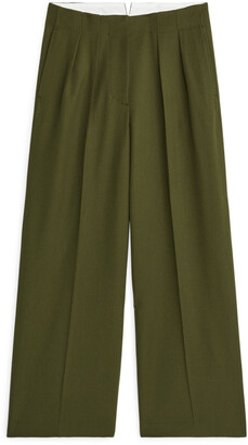 Arket Wide Fluid Wool Trousers