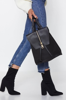Nasty Gal Womens WANT Back At You Faux Leather Backpack - black - One Size
