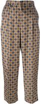 Incotex geometric print trousers