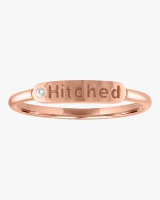 story. My Hitched Skinny Signet Diamond Mantra Ring