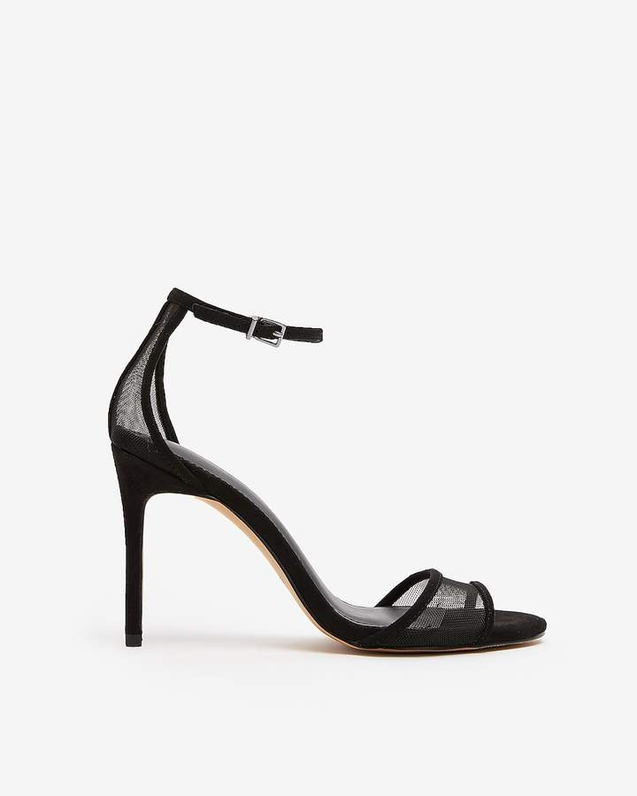 Express Mesh Simple Heeled Sandals