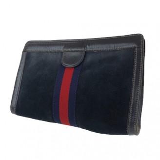 Gucci \N Navy Suede Clutch bags