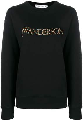J.W.Anderson multicoloured embroidered logo sweater