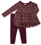 Splendid Girls 2-6x Toddler's & Little Girl's Two-Piece Tiered Top & Leggings Set