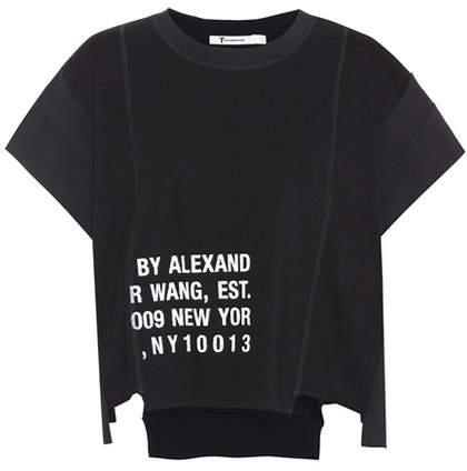 Alexander Wang Cotton-blend logo T-shirt