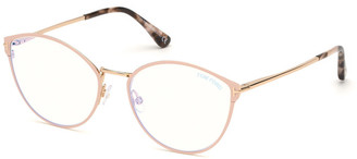 Tom Ford Blue Block Cat-Eye Metal Optical Frames