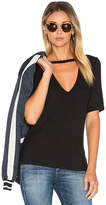 LnA Ribbed Cutout V Tee in Black. - size XS (also in )