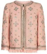 Andrew Gn Embellished Fringe Hem Jacket