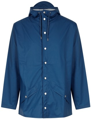 Rains Blue rubberised raincoat
