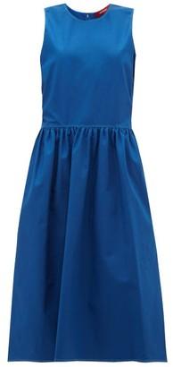 Sies Marjan Violetta Topsttiched Cotton-blend Dress - Womens - Blue