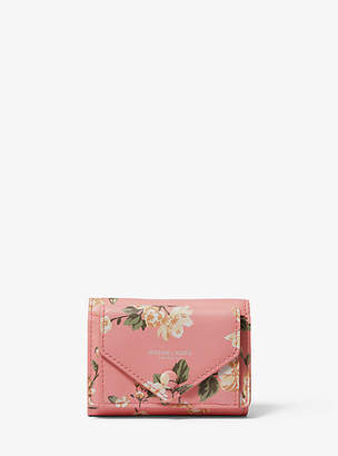Michael Kors Floral Calf Leather Small Pocket Wallet