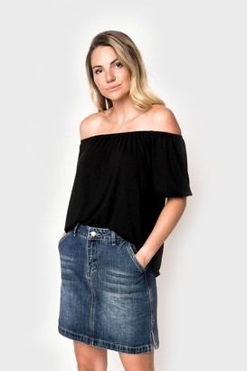 Gibson Natalie Off Shoulder Puff Sleeve Tee