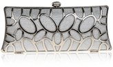 TopTie Metal Hardware Construction Purse, Dazzling Evening Clutch