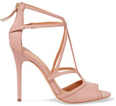 Halston Cutout Leather Sandals