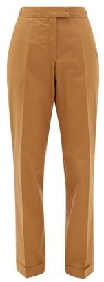 Officine Generale Vera Cotton-poplin Trousers - Womens - Camel