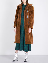 Toga Bead-embellished faux-fur coat