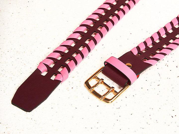 Diane von Furstenberg Perforated Whipstitch Belt