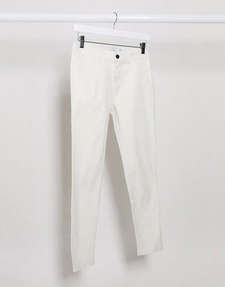 Topman super skinny chinos in white