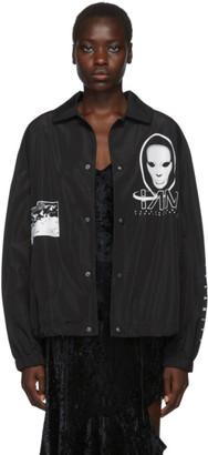 Perks And Mini Black Waveform Mask Coach Jacket