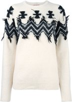 No.21 chevron print jumper