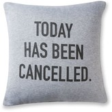 Mainstays Today Has Been Cancelled Jersey Throw Pillow
