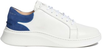 Crafted Society Matteo Low Sneaker - White & Royal Blue Full Grain Leather / White Outsole