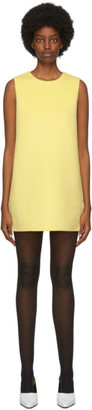 Marc Jacobs Yellow Wool and Cashmere Double-Face Shift Short Dress