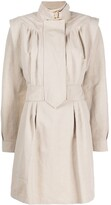 Stella McCartney buckle-collar structured-shoulder dress