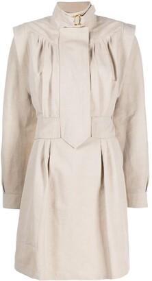 Stella McCartney buckle-collar structured-shoulder dress