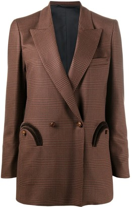 BLAZÉ MILANO Prince Of Wales double-breasted blazer