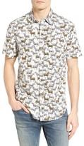 Original Penguin Men's Zebra Print Woven Shirt