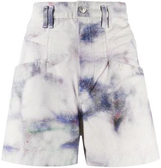 Isabel Marant Bleached High-Waisted Denim Shorts