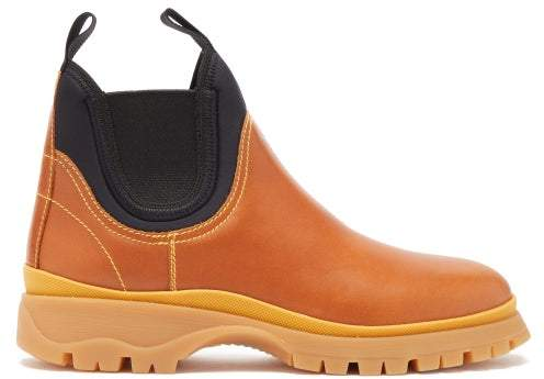 f32ef655 Neoprene And Leather Chelsea Boots - Womens - Tan