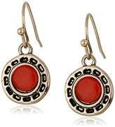 The Sak Stone Metal Carnelian Drop Earrings