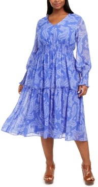Taylor Plus Size Smocked Midi Dress