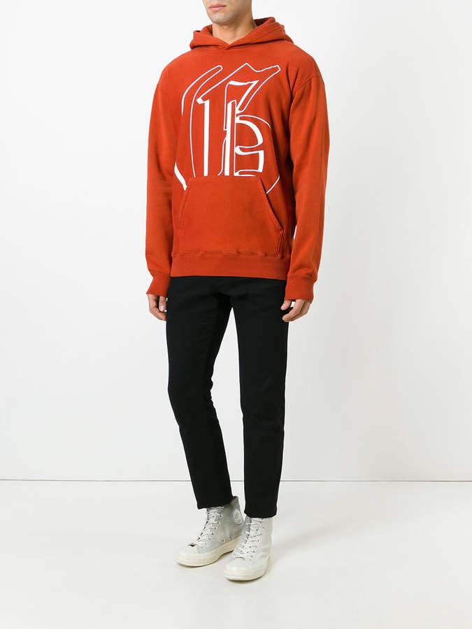 Golden Goose Deluxe Brand Rust Hoodie sweater
