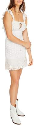 Free People Sleeveless Crochet-Lace Mini Dress