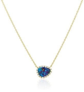 Anne Sisteron Gold Opal Diamond Luxe Jasmine Necklace