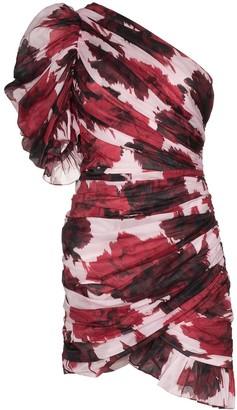 Alexandre Vauthier One-Shoulder Floral Mini Dress