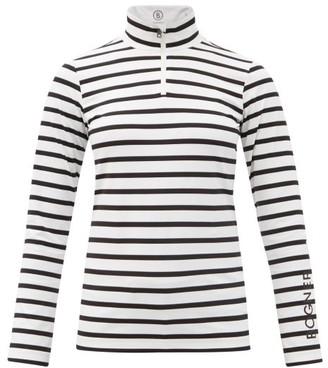 Bogner Beline Striped Stretch-jersey Base-layer Top - White Stripe