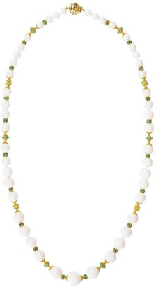 Verdura 18kt Yellow Gold Coral Turquoise Necklace