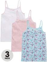 Very 3 Pack Ditsy Floral & Polka Dot Vests