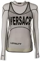 Versace Long-sleeved Jersey And Mesh Top
